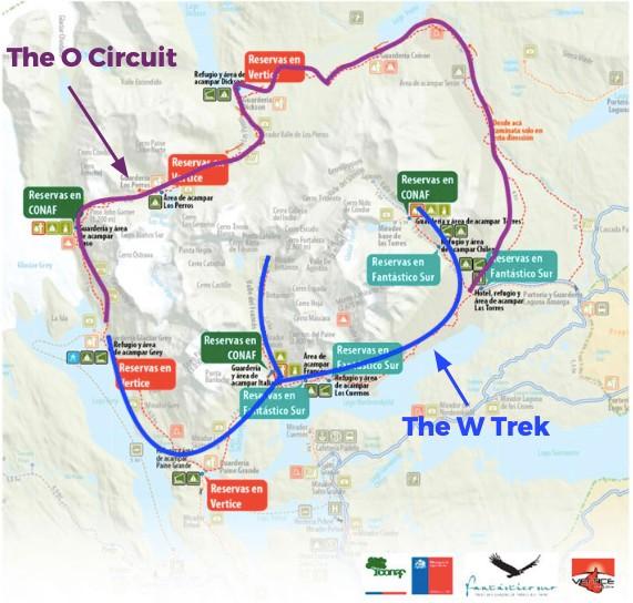 Carte Parc Torres del Paine