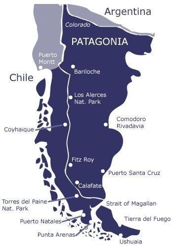 Patagonie carte